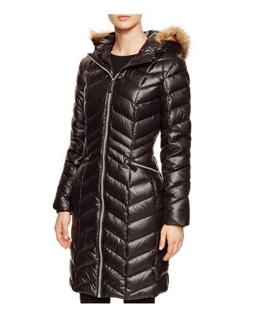 Marc New York   Black Long Puffer Coat   Lyst