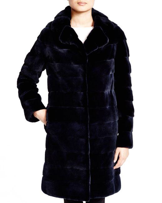 Maximilian | Blue Maximilian Mink Coat - Bloomingdale's Exclusive | Lyst