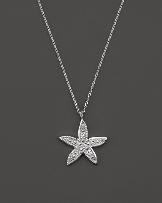 "KC Designs | Metallic Diamond Starfish Pendant Necklace In 14k White Gold, 16"" - 100% Exclusive | Lyst"