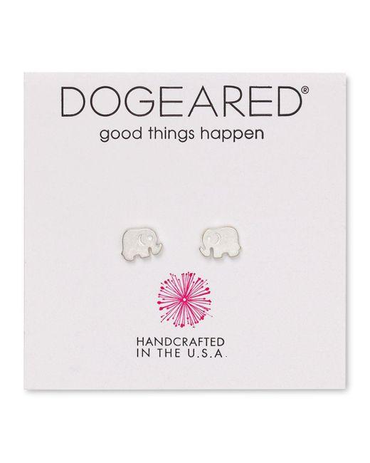 Dogeared | Metallic Elephant Stud Earrings | Lyst