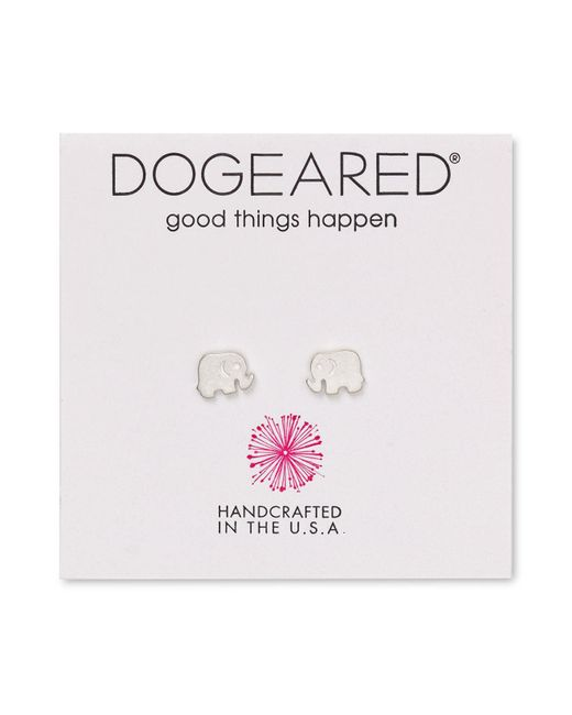 Dogeared | Metallic Elephant Stud Earrings | Lyst