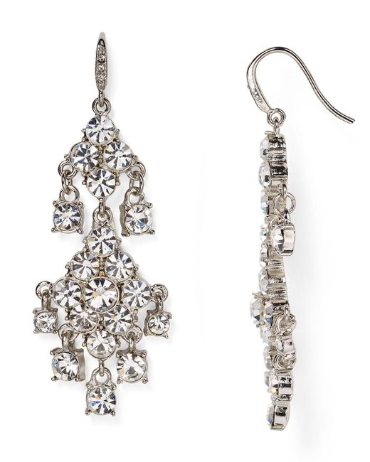 Carolee | Metallic Pave Chandelier Earrings | Lyst