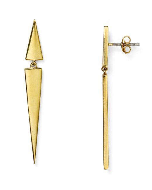 Elizabeth and James | Metallic Signature Itten Earrings | Lyst