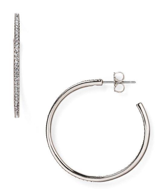 Nadri   Metallic Pavé Hoop Earrings   Lyst