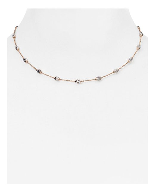 "Officina Bernardi | Pink Beaded Necklace, 16"" | Lyst"