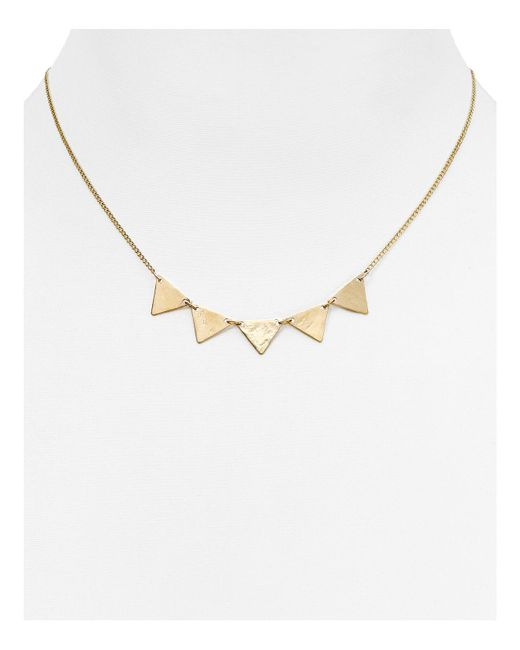 Phyllis + Rosie | Metallic Phyllis + Rosie Mini Spike Necklace, 16"