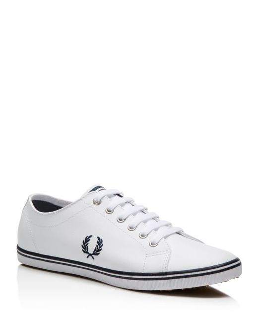 Fred Perry | White Kingston Leather Sneakers for Men | Lyst