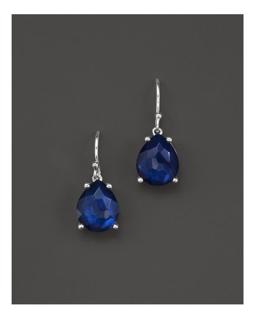 Ippolita | Blue Sterling Silver Wonderland Pear Drop Earrings In Midnight Doublet | Lyst