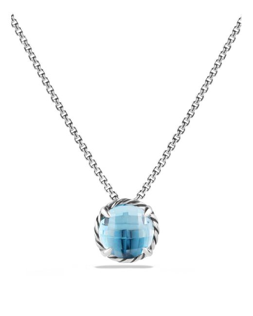 David Yurman | Châtelaine Pendant Necklace With Blue Topaz | Lyst