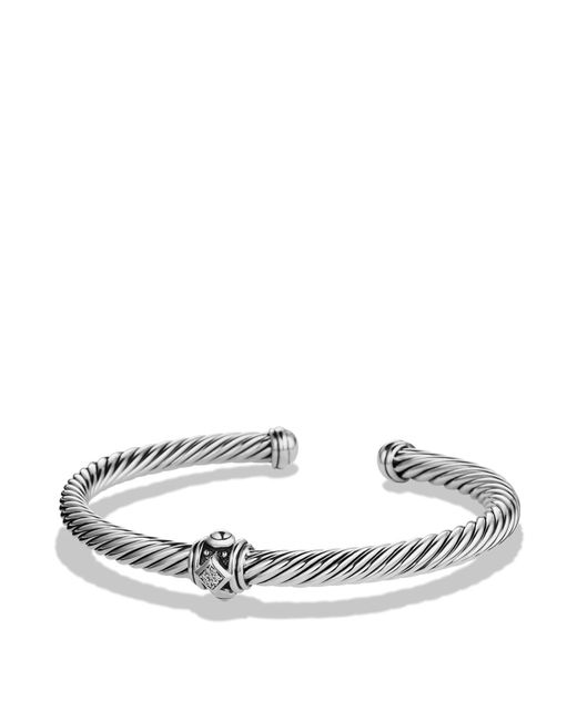 David Yurman - Metallic Renaissance Station Bracelet With Diamonds - Lyst