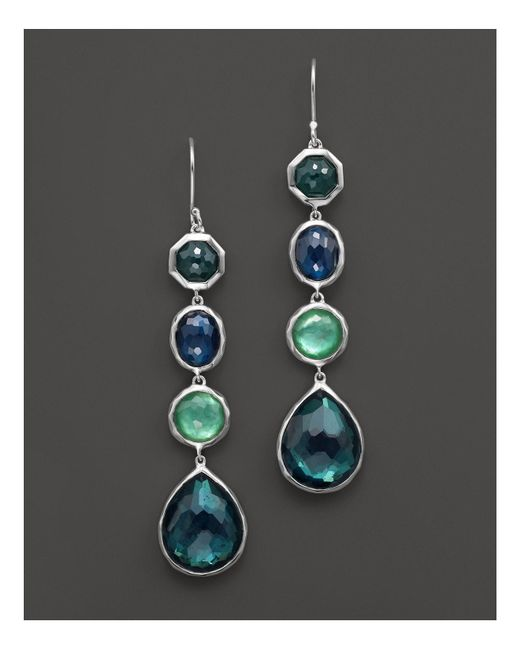 Ippolita | Green Rock Candy® Sterling Silver 4 Stone Drop Earrings In Neptune | Lyst