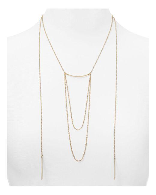 "Aqua | Metallic Romy Statement Necklace, 17.5"" | Lyst"