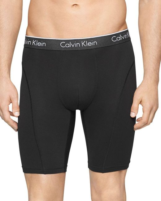 "Calvin Klein   Black Air Fx 9"" Cycle Shorts for Men   Lyst"