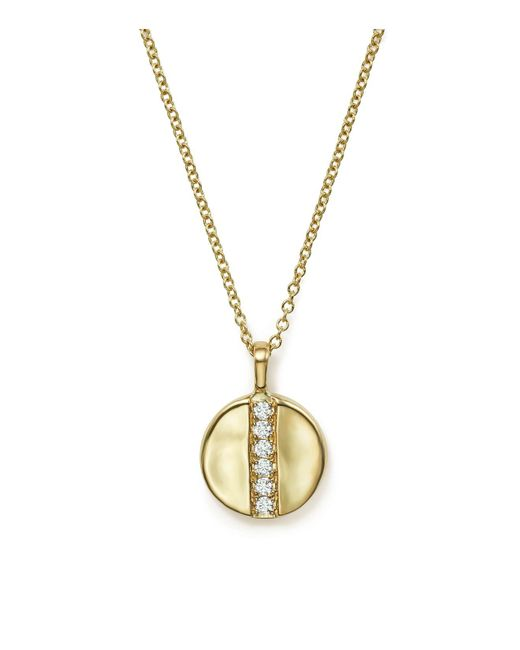 "Ippolita | Metallic 18k Glamazon Stardust Mini Disc Pendant Necklace With Diamonds, 16"" | Lyst"