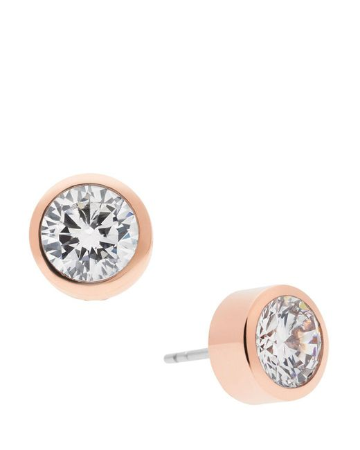 Michael Kors | Blue Round Cut Stud Earrings | Lyst