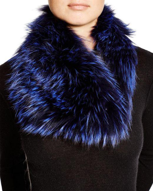 Badgley Mischka   Blue Fox Fur Infinity Scarf   Lyst