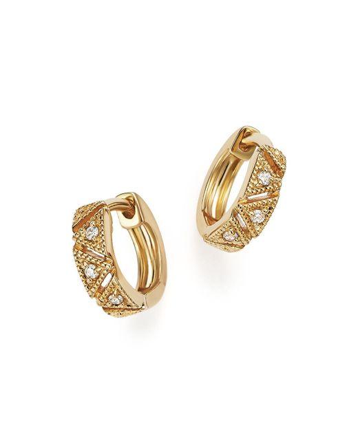 Dana Rebecca   Metallic Kathryn Lynn Huggie Hoop Earrings   Lyst