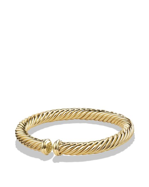 David Yurman | Metallic Cable Spira Bracelet In 18k Gold | Lyst