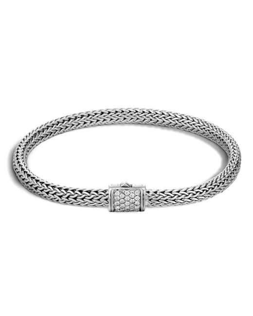 John Hardy - Metallic Classic Chain Sterling Silver Extra Small Bracelet With Diamond Pavé - Lyst