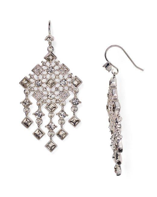 Ralph Lauren | Metallic Lauren Faceted Chandelier Earrings | Lyst