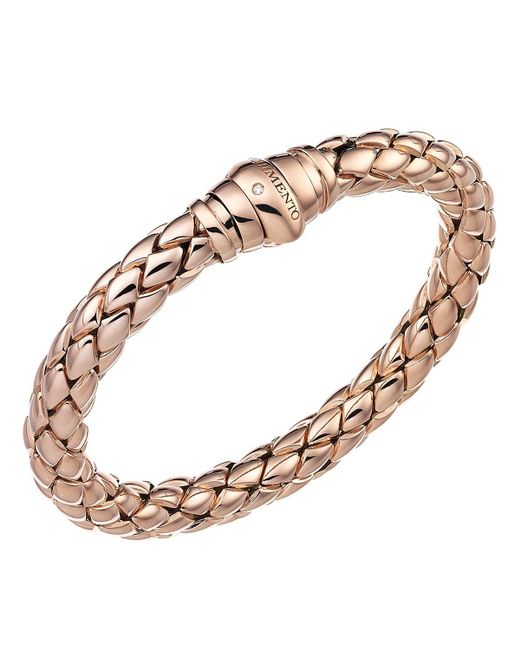 Chimento   Pink 18k Rose Gold Stretch Classic Collection Pyramid Link Bracelet With Diamonds   Lyst