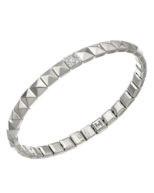 Chimento | Metallic 18k White Gold Armillas Pyramis Collection Square Link Bracelet With Diamonds | Lyst