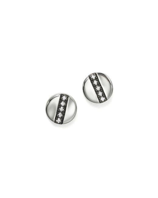 Ippolita | Metallic Sterling Silver Glamazon Stardust Station Stud Earrings With Diamonds | Lyst