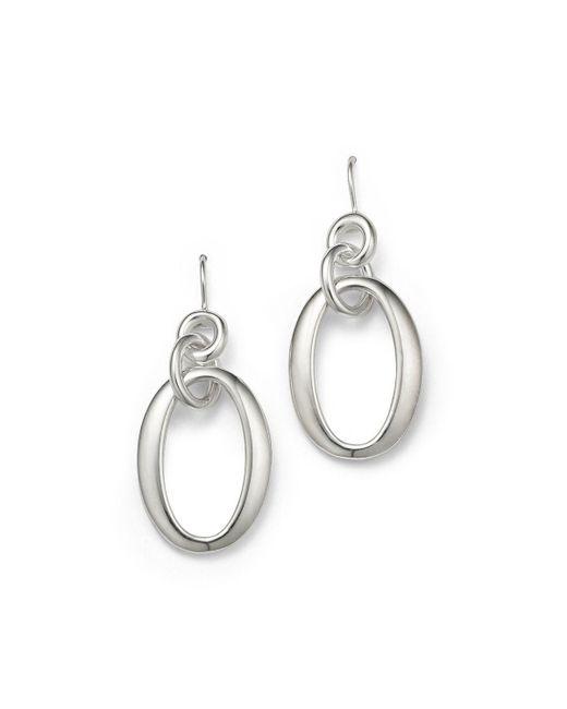 Ippolita   Metallic Sterling Silver Glamazon Short Oval Link Earrings   Lyst