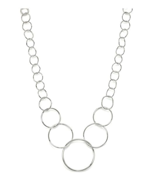 Ippolita | Metallic Silver Glamazon Graduated Wavy Circle Necklace | Lyst