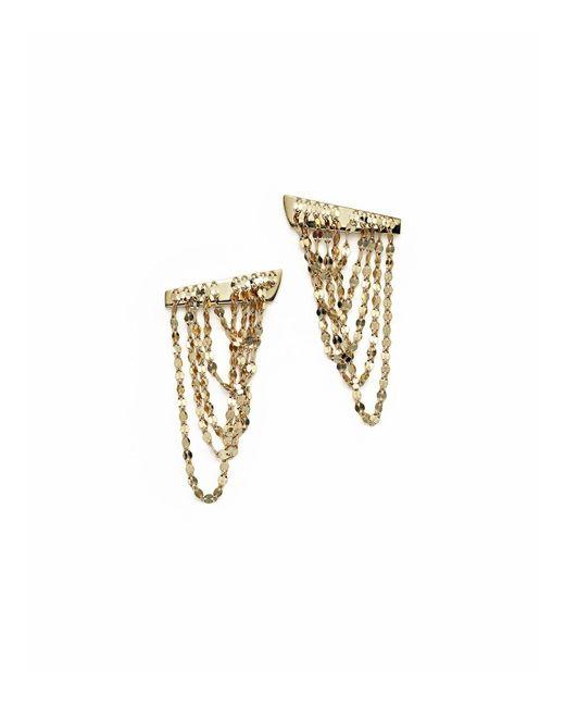 Lana Jewelry | Metallic 14k Yellow Gold Small Draped Earrings | Lyst