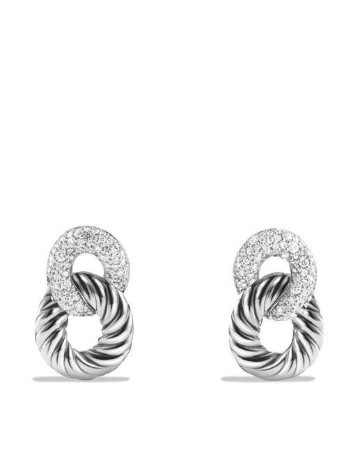 David Yurman   Metallic Belmont Drop Earrings With Diamonds   Lyst