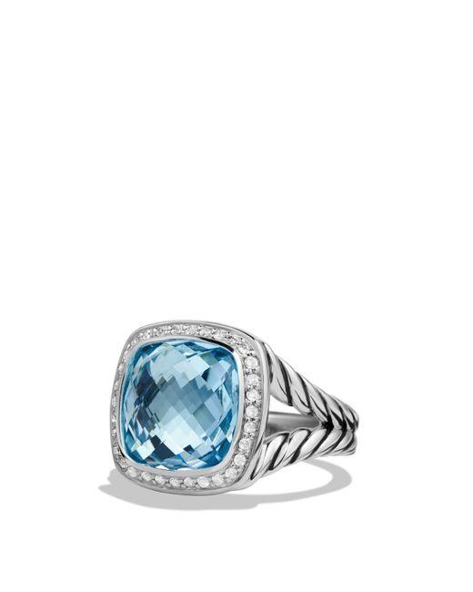 David Yurman | Albion Ring With Blue Topaz And Diamonds | Lyst