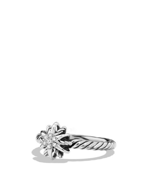 David Yurman | Metallic Starburst Ring With Diamonds | Lyst