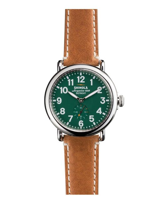 Shinola | Green Runwell Sub Second Watch, 41mm for Men | Lyst