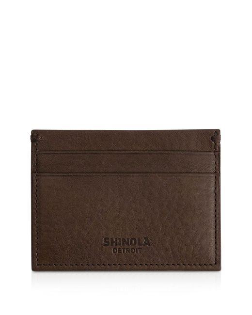 Shinola | Brown 5 Pocket Card Case | Lyst