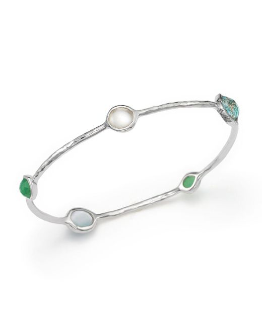 Ippolita | Multicolor Sterling Silver Wonderland 5 Stone Bangle In Chrysoprase Multi | Lyst