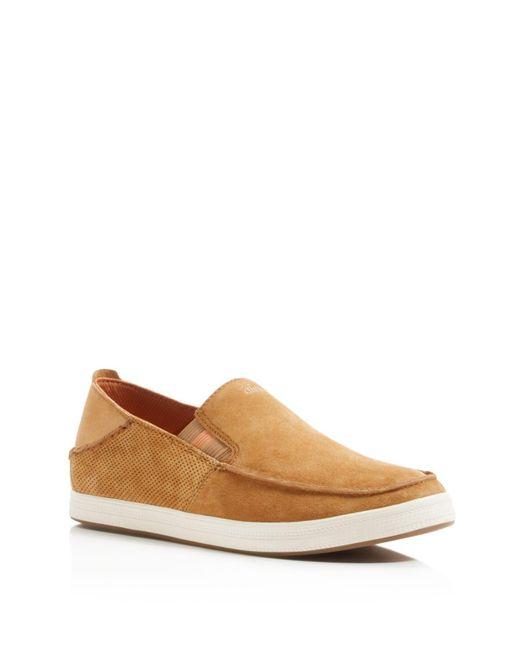 Olukai | Brown Pahono Slip On Sneakers for Men | Lyst