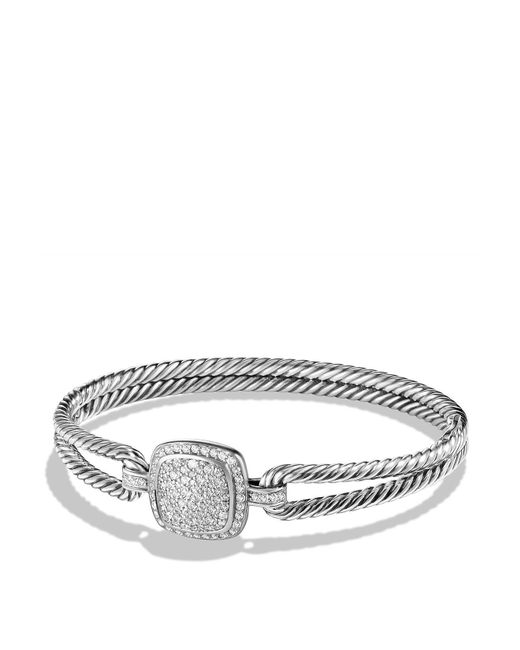 David Yurman | Metallic Albion Bracelet With Diamonds | Lyst