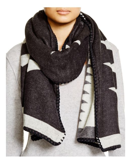 Fraas | Black Whipstitch Wrap Scarf | Lyst