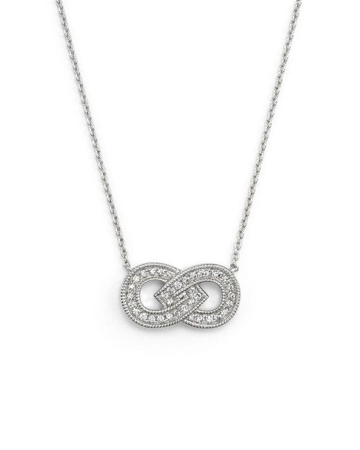 Dana Rebecca | Metallic 14k White Gold Isabelle Brooke Necklace With Diamonds, 16"
