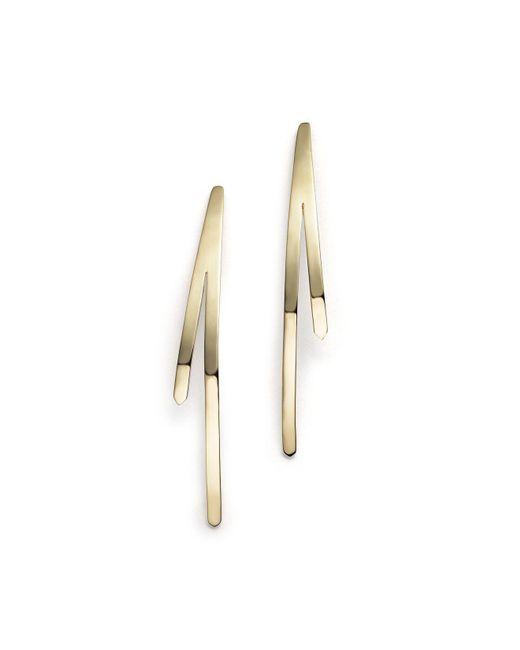 Lana Jewelry | Metallic 14k Yellow Gold Short Bar Reflector Earrings | Lyst