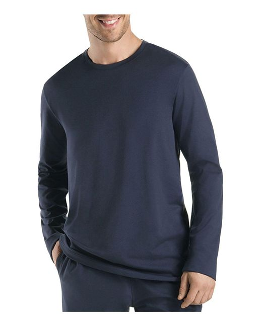 Hanro   Black Night And Day Long Sleeve Shirt for Men   Lyst