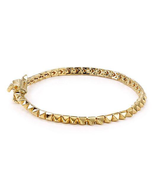Eddie Borgo | Metallic Pyramid Tennis Bracelet | Lyst