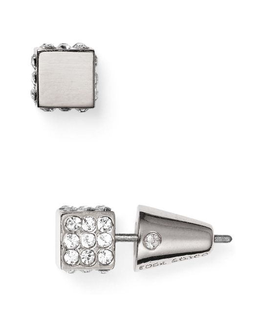 Eddie Borgo | Metallic Pavé Cube Stud Earrings | Lyst