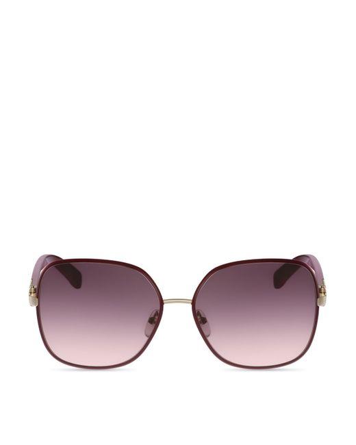 Ferragamo | Purple Oversized Square Sunglasses | Lyst