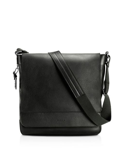 Shinola | Black Essex Leather Messenger Bag | Lyst