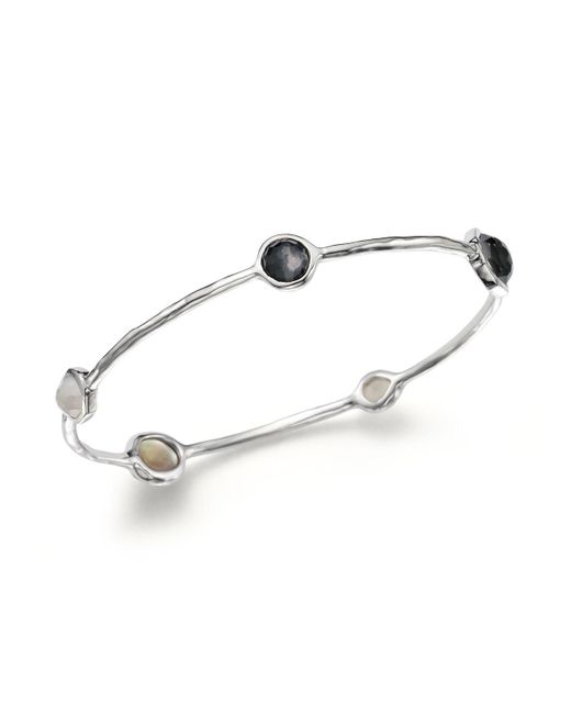 Ippolita | Metallic Sterling Silver Bangle In Black Tie | Lyst