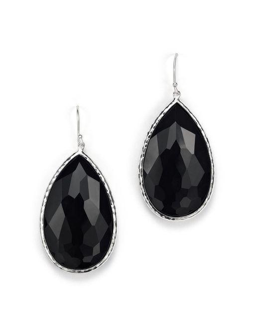 Ippolita | Sterling Silver Rock Candy Large Pear Wire Earrings In Black Onyx | Lyst