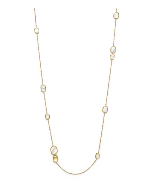 Roberto Coin | White 18k Yellow Gold Mother-of-pearl Necklace, 31"