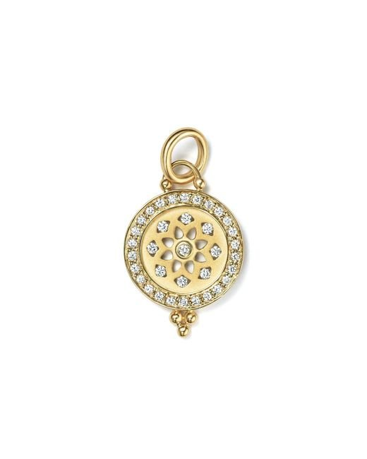 Temple St. Clair | Metallic 18k Gold Halo Mandala Cutout Pendant With Pavé Diamonds | Lyst